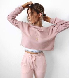lissy roddy in blush pink matching sweat set