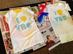 DIY Spray Paint VBS T-Shirts (for youth workshop day)
