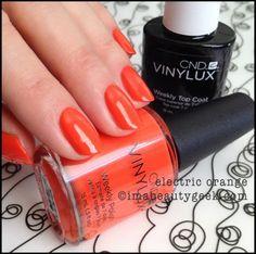 CND vinylux Electric Orange summer 2014