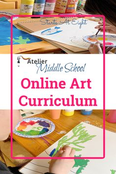 Middle School Online Art Curriculum from Atelier Homeschool Art by Arts Attack offers video-based art instruction for homeschoolers. Art Lessons Online, Art Education Lessons, Online Art Classes, Art Lessons For Kids, Art Lessons Elementary, Art Online, Middle School Art Projects, Art School, Middle School Crafts