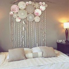 Large dream catcher backdrop free delivery top selling world crochet granny halter top pattern in pdf rainbow etsy Grand Dream Catcher, Large Dream Catcher, Dream Catcher Hoops, Dream Catcher Bedroom, Dream Catcher Decor, Custom Wall Murals, Bedroom Decor, Wall Decor, Bedroom Murals