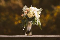 Flowers by Joan McKinney at Aurora Exhibit Solutions (their first time doing wedding flowers!) | Sharing my real October wedding with the Pinterest world. | Tyler Scott Photography (website: http://tylerscottphotography.com/)
