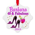 GLAMOROUS 40TH Snowflake Ornament http://www.cafepress.com/jlporiginals/6515966 #40thbirthday #40yearsold #Happy40thbirthday #40thbirthdaygift #40thornament  #Personalized40th  #40thbirthdayideas