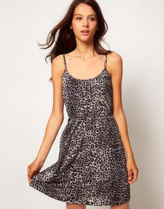 Warehouse Animal Cami Dress  $43.08