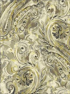 by Sandpiper Studios featured in Villa Flora, Transitional Wallpaper Textiles, Textile Prints, Textile Patterns, Print Patterns, Paisley Art, Paisley Design, Paisley Pattern, Pattern Art, Design Textile