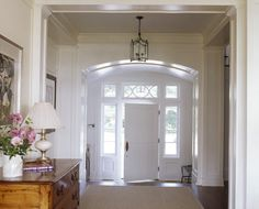 note the arched entryway... and a touch of pine always is a hit with me
