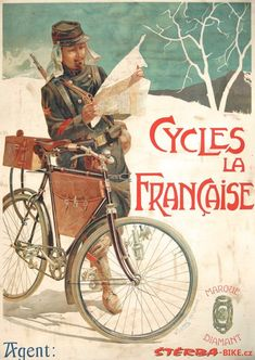 http://www.sterba-bike.cz/media/produkty/583/poster-cycles-la-francaise%20(8).jpg #bicyclevintage
