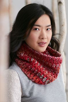 Cranberry Jam Cowl - This warm and chunky crochet cowl is perfect for layering over a trench-coat for a winter look that's both elegant and comfortable. From I Like Crochet's December 2014 issue.