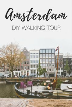 Amsterdam DIY walking tour. Must visit places in Amsterdam: Niewmarkt, Keukenhof Gardens, Dam Square,  Red Light District, Amsterdam-Centrum, Amsterdam Central Station, Basilica of Saint Nicholas, Waag, Anne Frank House, Van Gogh Museum, & Rijksmuseum.