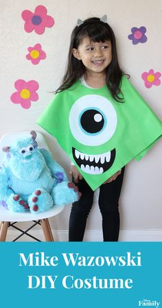 Halloween is just around the corner and monsters are popping up everywhere! Help your little one turn into one of their favorite Monsters, Inc. characters with this easy-to-make DIY Mike Wazowski Costume.