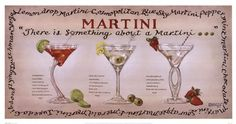 Martini Collection Art Print by Janet Kruskamp