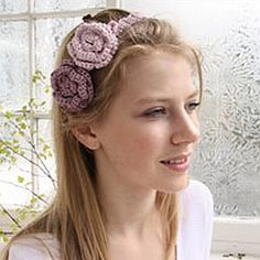 crochet pattern - floral headband