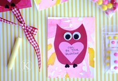 owl valentine - cute class party idea for kids to make for parents