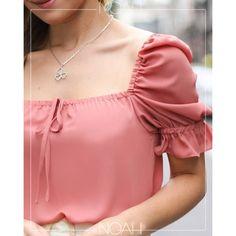 Como Fazer Short, Moda Casual, Blouse Neck Designs, Ideias Fashion, Girls Dresses, Style Inspiration, Sleeves, Clothing, Women