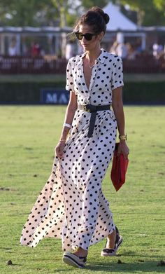 Ines Domecq attends the International Polo Tournament Final on August 2017 in Sotogrande, Spain. Dot Dress, Dress Skirt, Boho Fashion, Fashion Outfits, Womens Fashion, Summer Outfits, Summer Dresses, Mode Chic, Dress To Impress