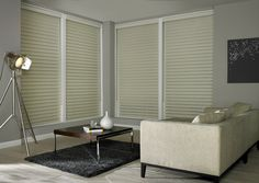 Made to measure Sheer Horizon Blinds For Your Windows | Illumin8 Blinds |  Reina Magnolia in Cream colour in Closed Position