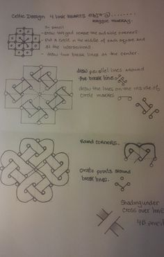 celtic knot hearts TIA step-out Celtic Drawings, Zentangle Drawings, Zentangles, Celtic Patterns, Doodle Patterns, Zentangle Patterns, Tribal Patterns, Celtic Symbols, Celtic Art