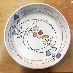 Pie Plate ready for glaze.❤️ Pie Plate ready for glaze. Pottery Plates, Slab Pottery, Glazes For Pottery, Ceramic Pottery, Pottery Art, Painted Pottery, Pottery Painting Designs, Pottery Designs, Ceramic Painting
