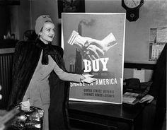 Carole Lombard during the bond tour.