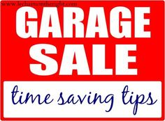 Garage Sale Time Saving Tips || Le Chaim (on the right)