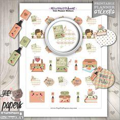 50%OFF - Planner Girl Stickers, Planner Stickers, Printable Planner Stickers, Use in Erin Condren, Planner Accessories, Planner Girl