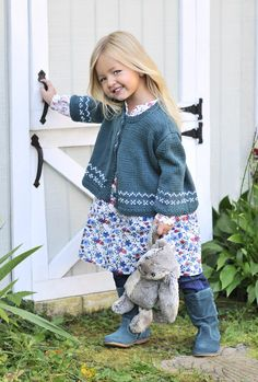 It doesn't get much better than knitting for children. Especially little girls. Erika Flory's Cotton Sweet Cardi hits all the right notes. Knit in delightfully soft Blue Sky Alpacas Skinny Cotton this cardi will make a great layering piece for busy, ready-to-play outside girls. Skinny Cotton comes in twenty three colors from girlie pastels to …
