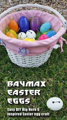 Unique easter basket ideas for your toddler a list of 29 fun and baymax easter eggs easy easter craft negle Image collections