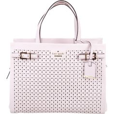 Pre-owned Kate Spade New York Milton Lane Oliveira Bag ($225) ❤ liked on Polyvore featuring bags, handbags, handbags purses, laser cut leather handbags, genuine leather handbags, man bag and kate spade handbag