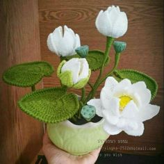 석가탄신일 맞이 손뜨개 연꽃 도안 - 백련ㆍ홍련 : 네이버 블로그 Crochet Flower Patterns, Crochet Flowers, Handicraft, Planting Flowers, Knit Crochet, Succulents, Knitting, Blog, Lotus Flower