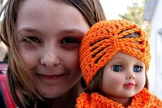 "Butterfly toque for 18"" doll"