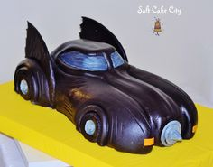Salt Cake City (www.SaltCakeCity.com) Batman Batmobile Cake