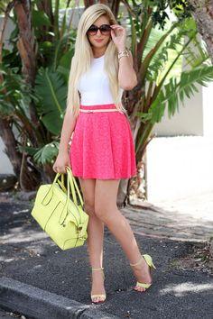 Bright Skirt {OOTD}
