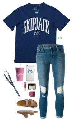 """School"" by halledaniella ❤ liked on Polyvore featuring J Brand, Native Union, Southern Tide, Kendra Scott, NARS Cosmetics, Too Faced Cosmetics, Hoola and TravelSmith"