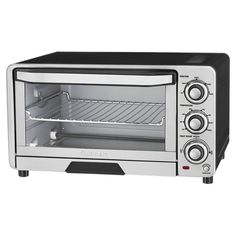 This 1800 watt Cuisinart Toaster Oven features toast, bagel, bake and broil functions. This stainless Cuisinart Toaster Ovens full size interior holds an 11 in pizza and 4 slices of toast. The stainless steel front with rubberized easy grip dials. Stainless Steel Toaster, Stainless Steel Countertops, Countertop Oven, Broiler Oven, Small Appliances, Kitchen Appliances, Cooking Appliances, Bagel Sandwich, Oven Roasted Chicken