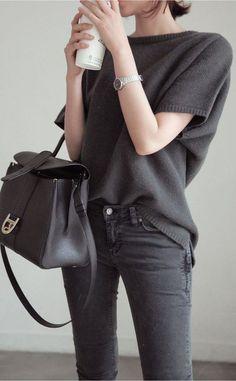 #street #style / all black: