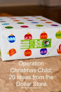 Dollar Store Operation Christmas Child Ideas from Heather Brown of My Life Well Loved Christmas Shoebox, Dollar Store Christmas, Kids Christmas, Christmas Projects, Kids Gifts, Gifts For Family, Christmas Gift Guide, Christmas Gifts, Bacon Wrapped Sausages