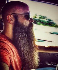 Most excellent whiskers. Bald With Beard, Bald Men, Beard Love, Hairy Men, Bearded Men, Epic Beard, Sexy Beard, Grey Beards, Long Beards