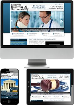 New York Personal Injury Lawyer Web Design - Check out our newest portfolio designs at http://firstpageattorney.com/web-design-portfolio/