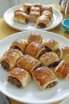 Sausage Crescent Rolls ~ Spicy seasoned sausage mixed with cream cheese and wrapped in crescent rolls