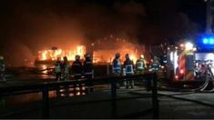 """Major damage in Stokesley garden centre fire -  'Major damage' in Stokesley garden centre fire                                                                                                7 April 2018                                    Image caption                                      Forty firefighters attended the blaze in Stokesley                                A large fire burned overnight in a garden centre dubbed a """"local institution"""".  The fire has destroyed almost all of Strikes…"""