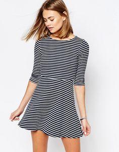 Cool Jack Wills Fit & Flare Striped Dress - Multi Jack Wills A Line Kjoler til Damer i dejlige materialer