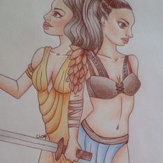 """@ elia_cioci.xo - """"Io sono solo un pallido riflesso della donna che ero..."""" #naevia #spartacus #quotes #telefilm #blood #war #illustration #fanart #art #drawing #draw #girl #sword #slave #freedom #love"""