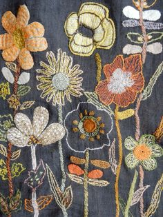 Sophie Digard embroidery scarf