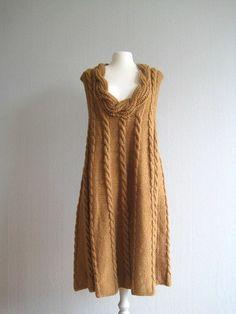 strickkleid braun damenmode wintermode winterkleid Einfache Strickprojekte,  Damen Mode, Stricken Und Häkeln, Bekleidung eb5d088b2e