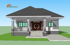 For Those On A Budget: Elegant Single Storey House - Ulric Home Simple Bungalow House Designs, Modern Bungalow House Design, Simple House Design, Model House Plan, My House Plans, Family House Plans, Two Story House Design, Village House Design, Philippines House Design