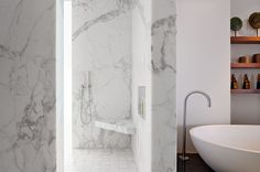shower bench-modern bathroom by Zack|de Vito Architecture + Construction