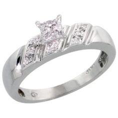 https://ariani-shop.com/14k-white-gold-diamond-engagement-ring-w-007-carat-brilliant-cut-diamonds-3-16-in-5mm-wide-size-5 14k White Gold Diamond Engagement Ring, w/ 0.07 Carat Brilliant Cut Diamonds, 3/16 in. (5mm) wide, Size 5
