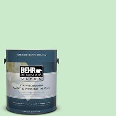 BEHR Premium Plus Ultra 1-gal. #P390-2 Chilled Mint Satin Enamel Interior Paint