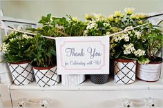 bridal shower favor idea...Cute idea for a floral themed bridal shower! and lasts longer than many other favors.