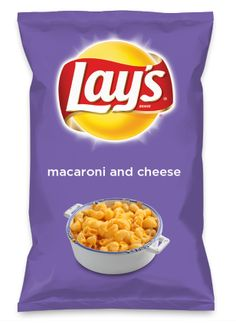 Wouldn't macaroni and cheese be yummy as a chip? Lay's Do Us A Flavor is back, and the search is on for the yummiest flavor idea. Create a flavor, choose a chip and you could win $1 million! https://www.dousaflavor.com See Rules.